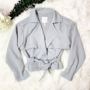 Leith Crop Trench Jacket